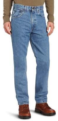 Carhartt Men's Traditional Fit Five Pocket Tapered Leg Jean B18