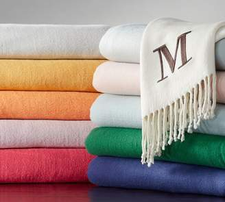 Pottery Barn Monogrammable Throw