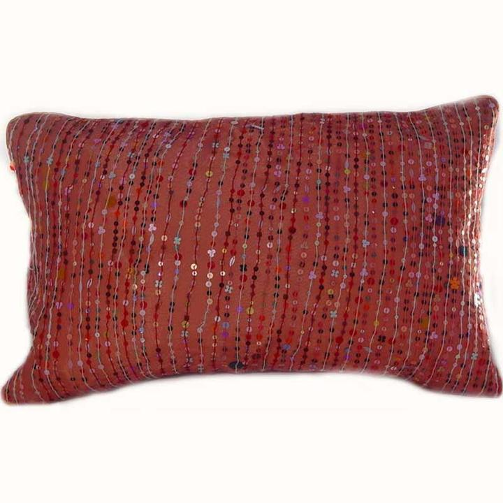 Dransfield & Ross - coral 'metallic confetti' pillow by dransfield and ross