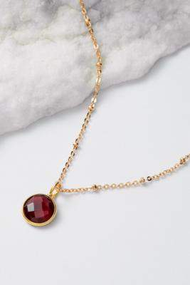 Mirabelle January Birthstone Pendant Gold-Plated Necklace - gold at Urban Outfitters