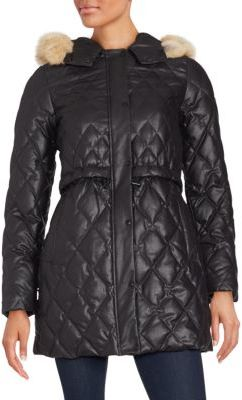 Natural Coyote Fur Quilted Coat $695 thestylecure.com