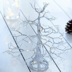 Weiß glitzernder LED-Baum Troll