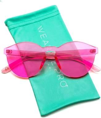 943bedfcc3 WearMe Pro - Colorful Transparent Round Super Retro Sunglasses (