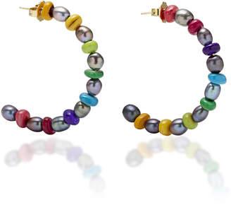 Eliza J Brinker & Double-Take Hoop Earrings