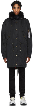 Versace Black Logo Coat
