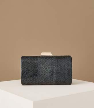 Reiss Hoxton Snake Skin Box Clutch