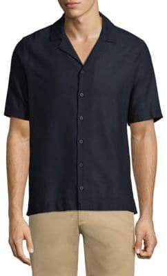 Sunspel Short-Sleeve Casual Button-Down Shirt