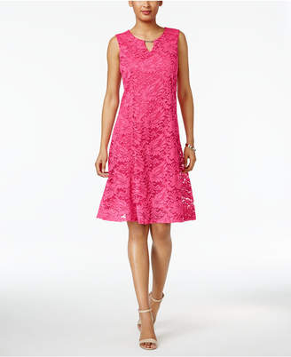 JM Collection Floral-Lace A-Line Dress, Only at Macy's $69.50 thestylecure.com