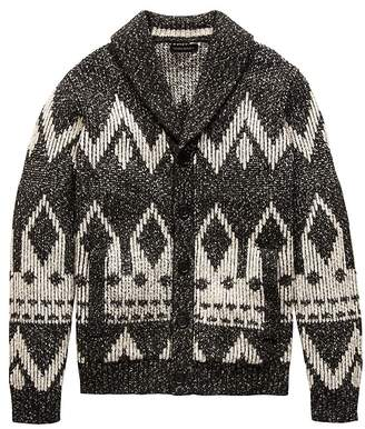 Banana Republic Fair Isle Cardigan Sweater