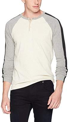 Lucky Brand Men's Casual Long Sleeve Colorblock Henley