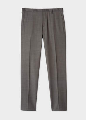 Paul Smith Men's Slim-Fit Charcoal Grey Wool Trousers