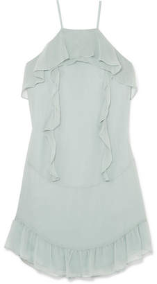 Rachel Zoe Colby Ruffled Silk-chiffon Mini Dress - Mint