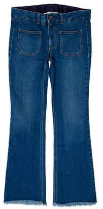 Stella McCartney Fringe-Trimmed Straight-Leg Jeans