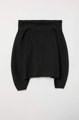 H&M Off-the-shoulder Sweater - Black