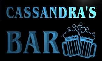 Cassandra AdvPro Name w079994-b Name Home Bar Pub Beer Mugs Cheers Neon Light Sign