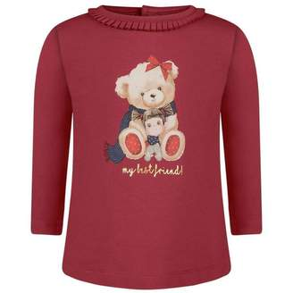 Mayoral MayoralBaby Girls Red Teddy Top