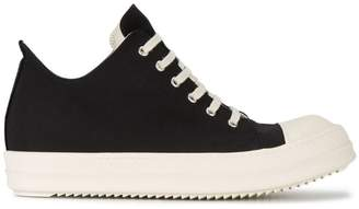 Rick Owens Black canvas sneakers