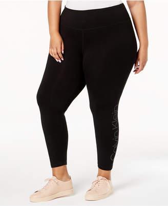 Calvin Klein Plus Size Performance Logo Leggings
