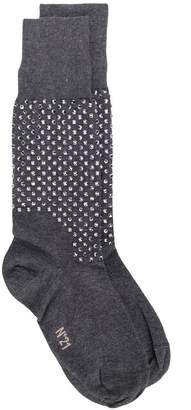 No.21 embellished fitted socks