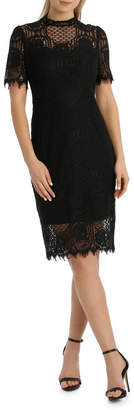 Cap Slv Black Lace Dress