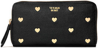 Victoria's Secret Victorias Secret Heart Stud Zip Wallet