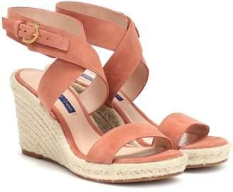Stuart Weitzman Lexia suede wedge sandals