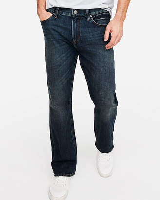 Express Classic Boot Dark Wash Soft Cotton Stretch Jeans