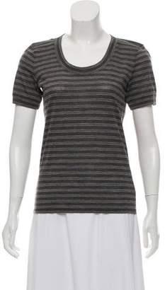 Armani Collezioni Wool Striped Top