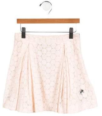 Rykiel Enfant Girls' Embellished Eyelet Skirt w/ Tags
