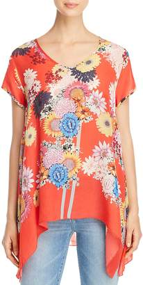 Johnny Was Collection Dolce Printed Drape Top