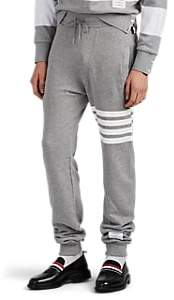 Thom Browne Men's Block-Striped Cotton Jogger Pants - Light Gray