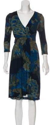 Etro Long Sleeve Wrap Dress
