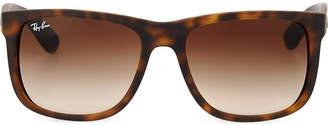 Ray-Ban Havana rectangular sunglasses with grey gradient lenses RB4165 54