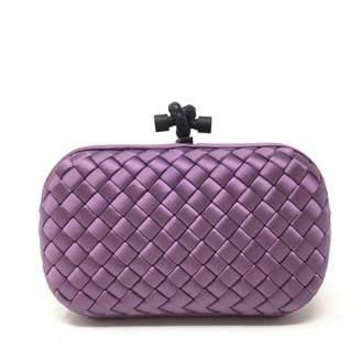 Bottega Veneta Pochette Knot Silk Clutch Bag
