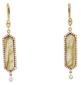 Meira T 14K Labradorite & Diamond Drop Earrings