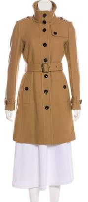 Burberry Shearling-Trimmed Wool Coat