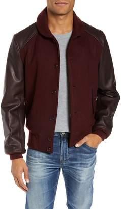 Schott NYC Wool Blend Varsity Jacket