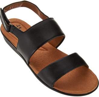 Clarks Leather Double Strap Adj. Sandals - Manilla Penna