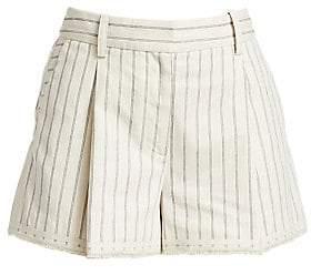 Rag & Bone Women's Millie Pinstripe Cotton Shorts