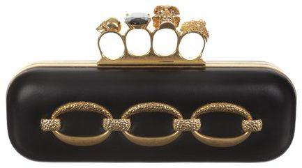 Alexander McQueen Hammered Chain Knucklebox Clutch