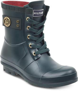 Tommy Hilfiger Trineti Lace-Up Rain Boots Women's Shoes