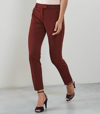 Reiss JOANNE CROPPED TAILORED TROUSERS Roasted Red