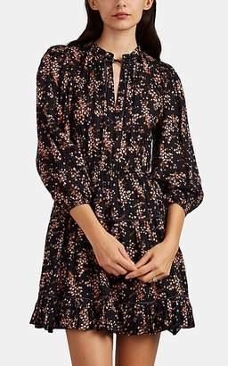 Ulla Johnson Women's Brienne Floral Cotton-Silk Dress - Black