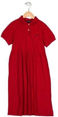 Ralph Lauren Girls' Short Sleeve Dress
