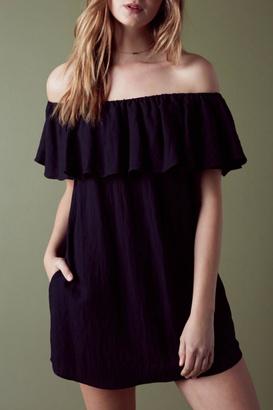 Cotton Candy Ruffle Off Shoulder Dress $68 thestylecure.com
