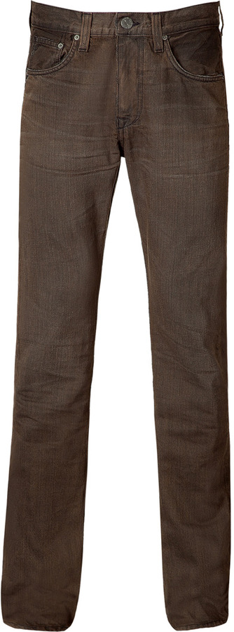 Current/Elliott Antique brown slim straight leg jeans