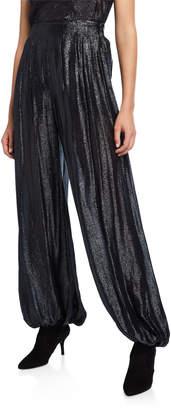 Cushnie Shimmer Jersey High-Rise Harem Pants