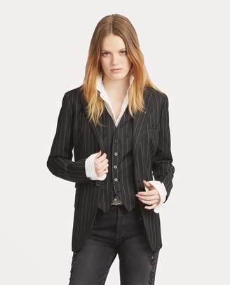 Ralph Lauren Pinstripe One-Button Blazer