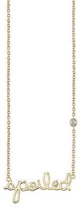 Sydney Evan Syd by 14K Yellow Gold Plated Sterling Silver Diamond 'Spoiled' Pendant Necklace - 0.015 ctw