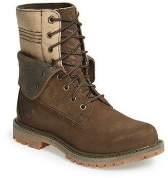Women's Timberland 'Doublefold' Canvas Boot $129.95 thestylecure.com
